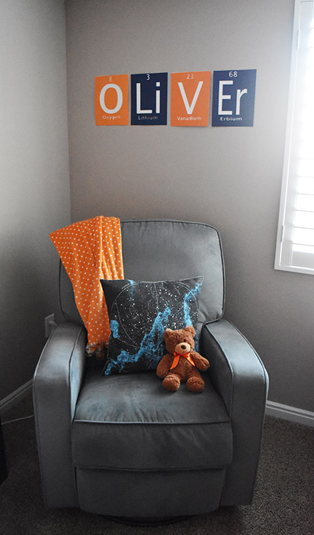 spaced themed nursery