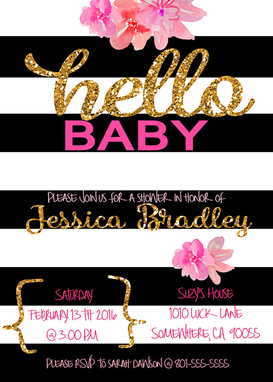 Hello Baby, A Kate Spade Inspired Baby Shower